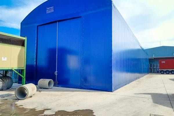 T006-0014 ขนาด 10x40 ประตูเปิดแบบสไลด์ออกสองด้าน ด้าน 10 เมตร